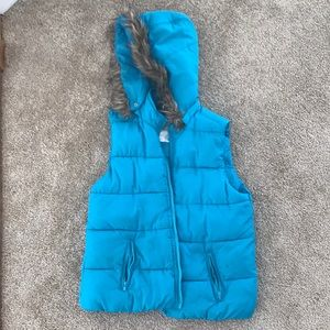 Justice gorgeous blue winter vest